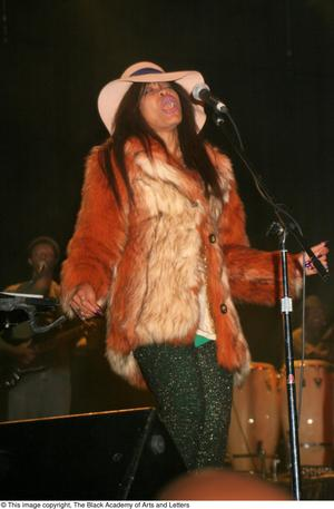 Primary view of object titled '[Erykah Badu Live Performance]'.