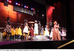 Primary view of object titled '[Young perform in Aretha: The Musical]'.
