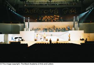 Primary view of object titled '[Curtis King on Stage]'.