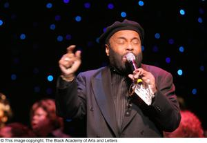 Primary view of object titled '[Andraé Crouch Performing]'.