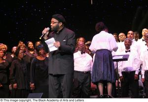 Primary view of object titled '[Andraé Crouch and Choir]'.
