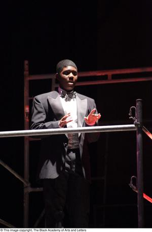 Primary view of object titled '[Actor in Aretha: The Musical]'.