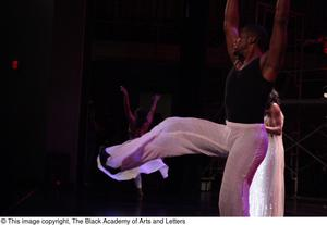 Primary view of object titled '[Dancers in Aretha: The Musical]'.