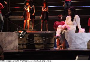 Primary view of object titled '[Ensemble performing in Aretha: The Musical]'.
