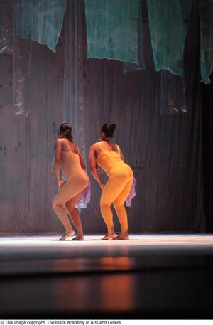 Primary view of object titled '[Duo dancers on stage]'.