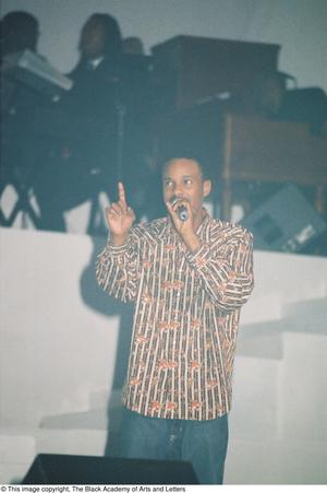 Primary view of object titled '[Onstage Singer Performing]'.