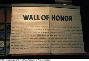 Primary view of object titled '[Prop called 'Wall of Honor']'.
