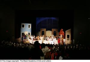 Primary view of object titled '[Large Group of Performers on Stage]'.