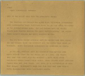 Primary view of object titled '[News Script: Marines in Vietnam]'.