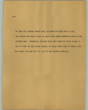 Primary view of object titled '[News Script: Ace]'.