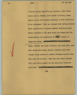 Primary view of object titled '[News Script: Dope]'.