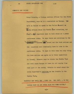 Primary view of object titled '[News Script: State Department Man]'.