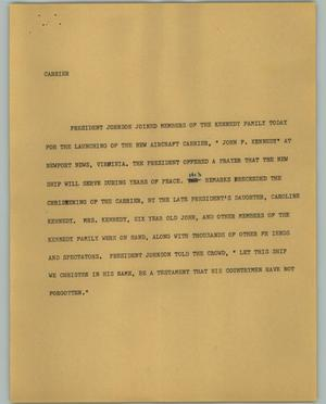 Primary view of object titled '[News Script: Carrier]'.
