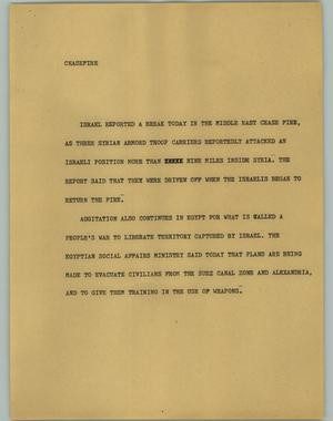 Primary view of object titled '[News Script: Ceasefire]'.