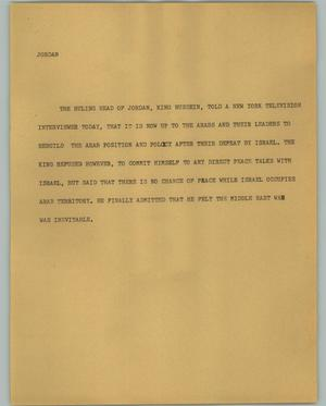 Primary view of object titled '[News Script: Jordan]'.