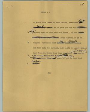 Primary view of [News Script: Drown]