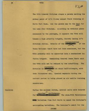 Primary view of object titled '[News Script: 49th]'.