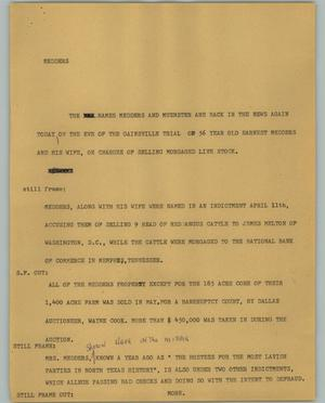 Primary view of object titled '[News Script: Medders]'.