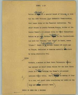 Primary view of object titled '[News Script: Sokol]'.