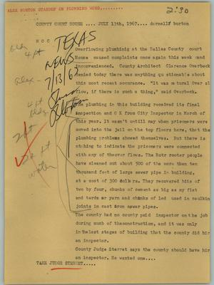 Primary view of object titled '[News Script: County courthouse]'.