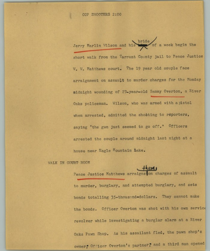 News Script: Cop Shooters] - The Portal to Texas History