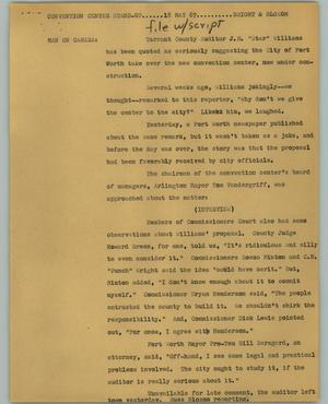 Primary view of object titled '[News Script: Convention Center standup]'.