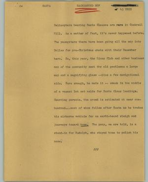 Primary view of object titled '[News Script: Santa]'.