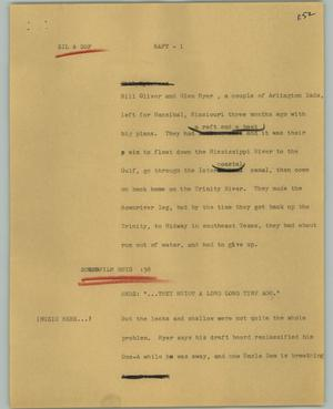 Primary view of object titled '[News Script: Raft]'.