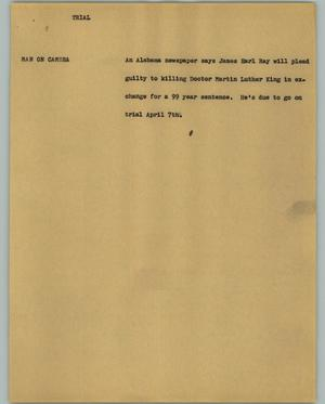 Primary view of object titled '[News Script: Trial]'.
