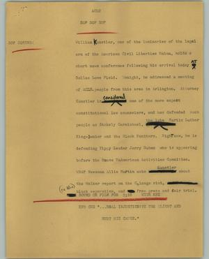 Primary view of object titled '[News Script: ACLU]'.