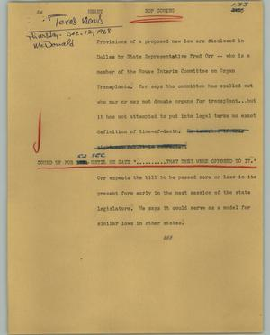 Primary view of object titled '[News Script: Heart]'.