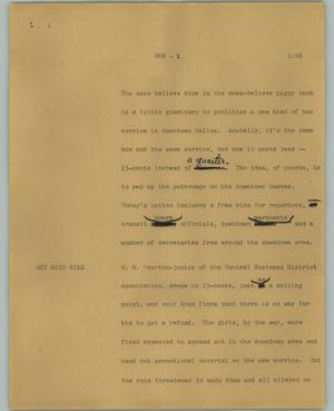 Primary view of object titled '[News Script: Bus]'.