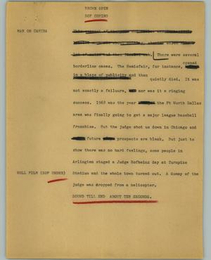 Primary view of object titled '[News Script: Brown open]'.