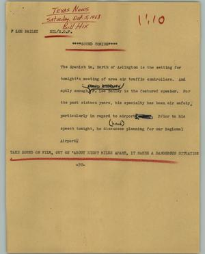 Primary view of object titled '[News Script: F Lee Bailey]'.