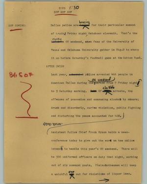 Primary view of object titled '[News Script: Cops]'.