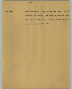 Primary view of object titled '[News Script: Burton]'.