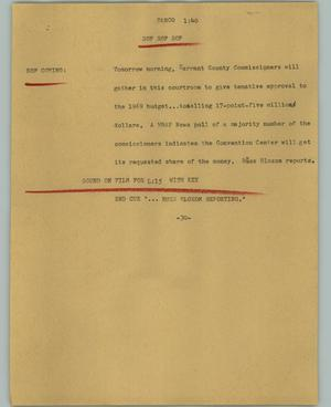 Primary view of object titled '[News Script: Tarco]'.