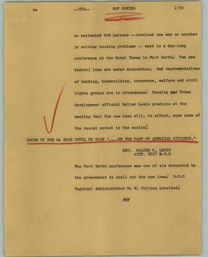 Primary view of object titled '[News Script: HUD]'.