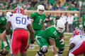 Photograph: [Mean Green Offense readies for play]