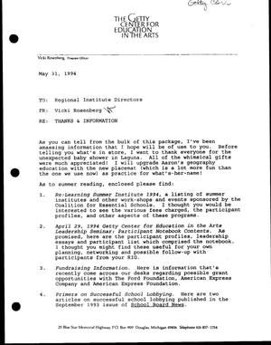 Primary view of [RE: Thanks & Information, May 31, 1994]