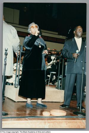 Primary view of object titled '[Black Music and the Civil Rights Movement Concert Photograph 27]'.
