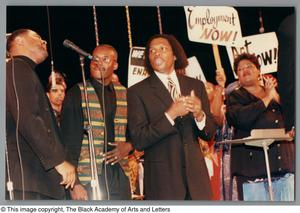 Primary view of object titled '[Black Music and the Civil Rights Movement Concert Photograph 3]'.