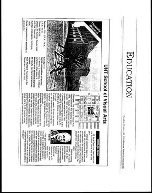 Primary view of [Art Education, Newspaper clippings]