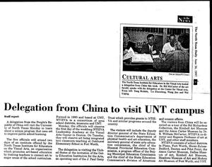 Primary view of Delegration from China to visit UNT campus