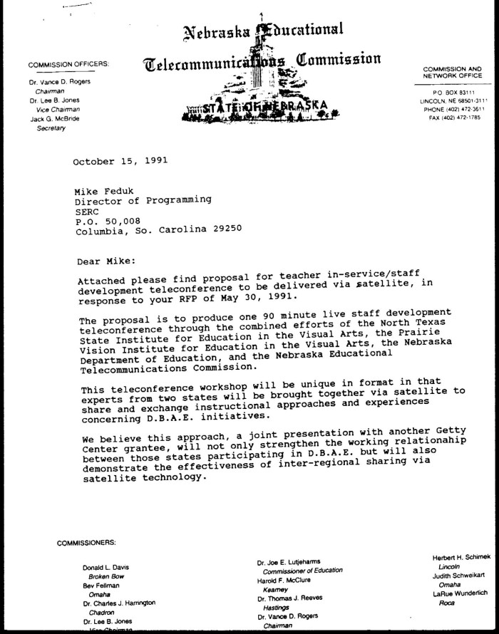 Letter from Peter Chant to Mike Feduk, October 15, 1991] - The