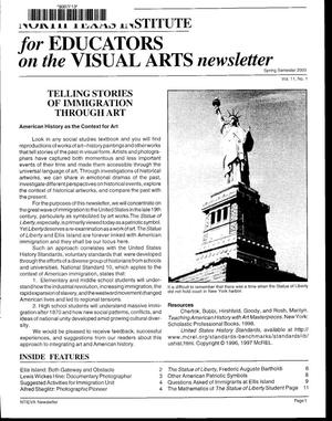 Primary view of North Texas Institute for Educators on the Visual Arts newsletter, Spring Semester 2000