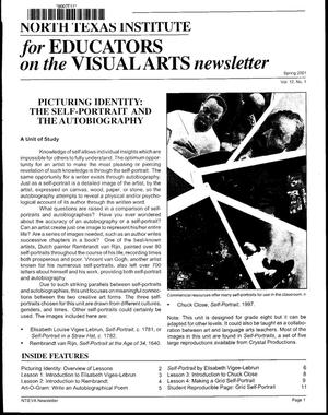 Primary view of North Texas Institute for Educators on the Visual Arts newsletter, Spring 2001