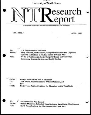 Primary view of [NT Research Report, April 1993]