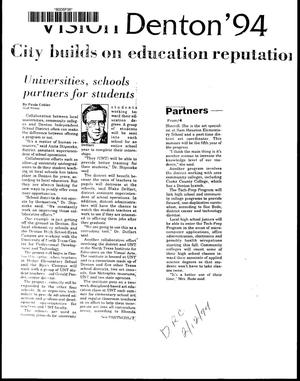 Primary view of City builds on education reputation