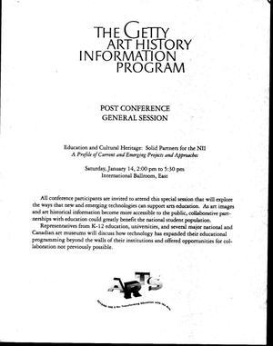 The Getty Art History Information Program